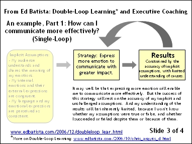 Double-Loop Learning and Executive Coaching
