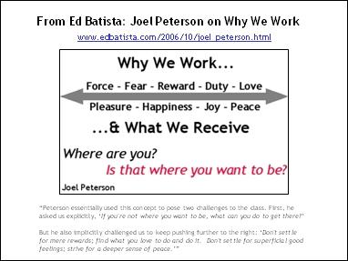 Joel Peterson on Why We Work