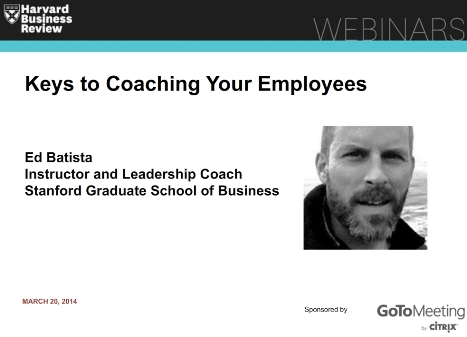 Coaching Your Employees: An HBR Webinar